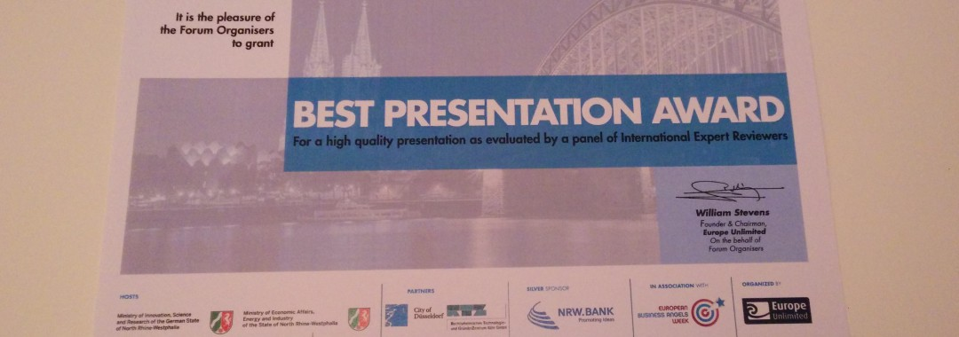 Award of the European Venture Contest NRW 2014