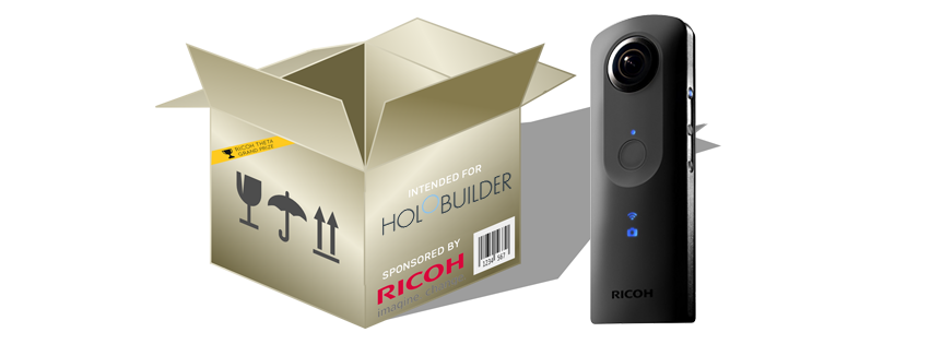 As an add-on to awarding HoloBuilder with the Theta Developer Contest Grand Prize, Ricoh just presented bitstars with a brand new Theta model S camera!